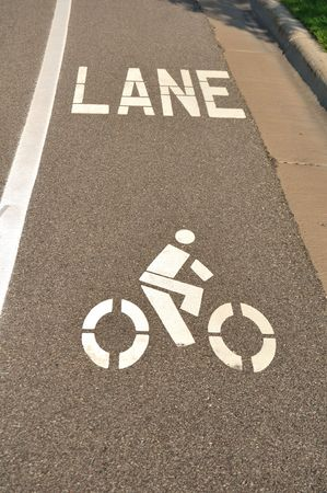 bicycle lane: Bicycle Lane on an Asphalt Street