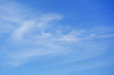 cirrus: Cirrus Clouds Against a Blue Sky Stock Photo