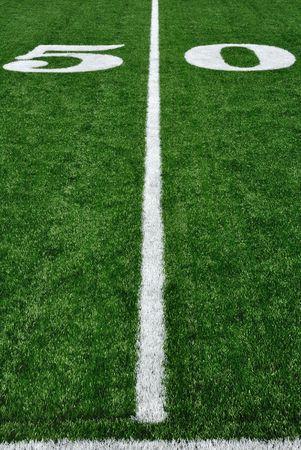 50 Yard Line on American Football Field Stock Photo - 7783028