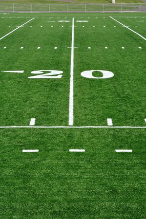 20 Yard Line on American Football Field  photo