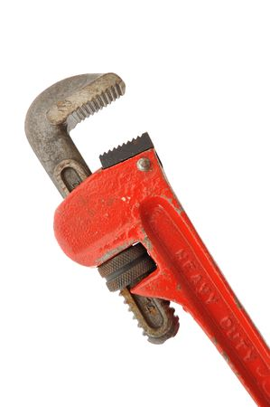 Pipe Wrench Isolated on a White Background Stock Photo - 7917823