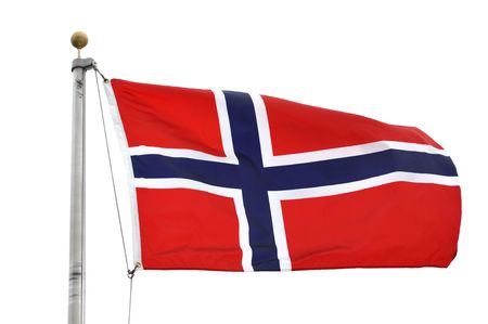 The Flag of Norway Waving in the Breeze Stock Photo - 8004575