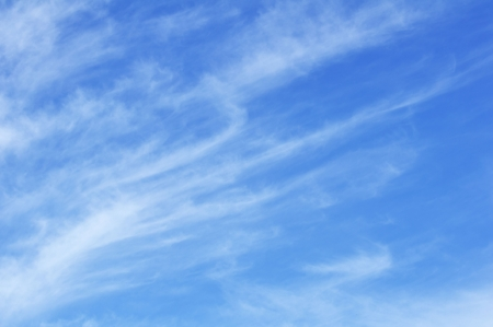 Cirrus Clouds Against a Blue Sky Stock Photo - 8004573