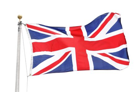 The Flag of Great Britian Isolated on White Stock Photo - 8098471