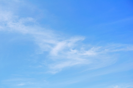 Cirrus Clouds Against a Blue Sky Stock Photo