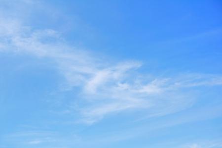 Cirrus Clouds Against a Blue Sky Archivio Fotografico