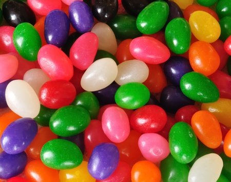 Close-up Colorful Jelly Beans for a Background Archivio Fotografico