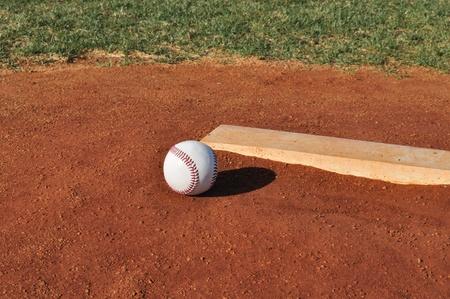 Baseball on the Pitcher photo