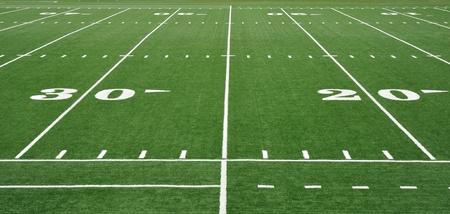20 en 30 Yard lijn op Amerikaanse voetbalveld
