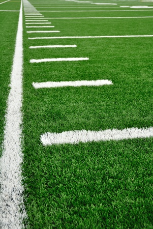 sideline: Sideline on a American Football Field with Hash Marks