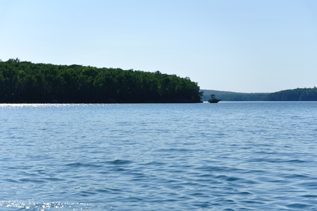 basswood: Basswood Island of the Apostle Islands near Bayfield, Wisconsin Stock Photo
