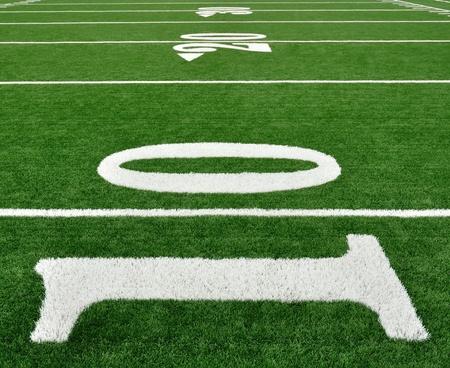 campo di calcio: 10, 20, e 30 Linea Yard sul campo da football americano
