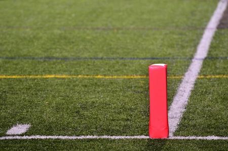 goalline: Pylon on Goal Line of American Football Field