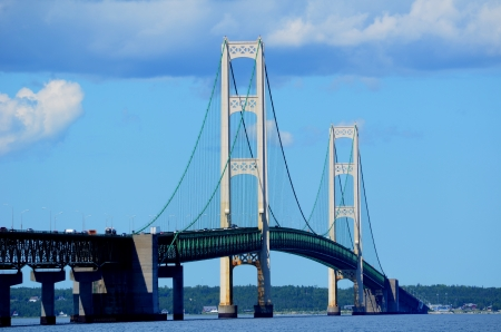 mackinac: Mackinac Bridge on a Sunny Summer Day