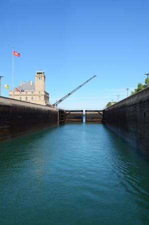 locks: Soo Locks of Sault Ste  Marie Michigan