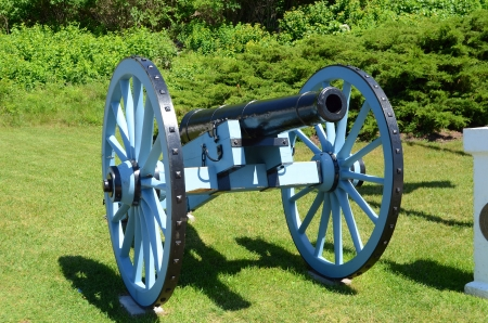mackinac: Cannon at Fort Mackinac on Mackinac Island Michigan
