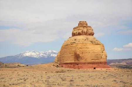 Church Rock Grès formation près de Monticello Utah Banque d'images - 19115370