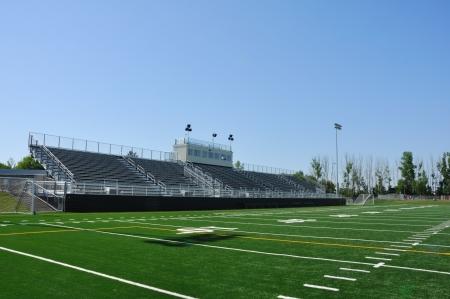 school football: Bleachers of American High School Football Stadium
