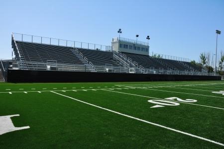 high school football: Bleachers of American High School Football Stadium