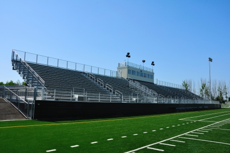 Bleachers of American High School Football Stadium Stock Photo - 19235461