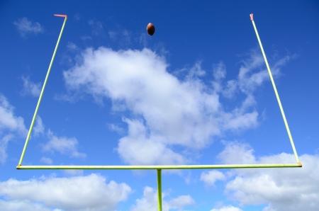 Field Goal, le football et l'objectif américain messages Banque d'images - 19315841