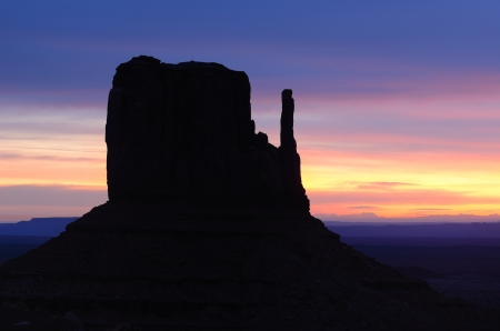 West Mitten Butte Sunrise, Monument Valley  Navajo Permit on File