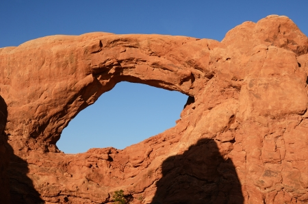 rock formation: South Window Arch in Arches National Park Near Moab, Utah
