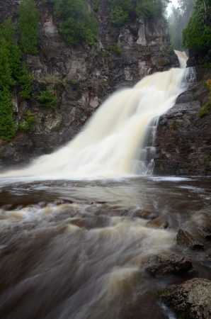 minnesota woods: Caribou Falls of the Caribou River in Northern Minnesota Stock Photo