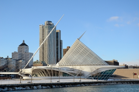 art museum: Milwaukee Art Museum and Downtown Skyline