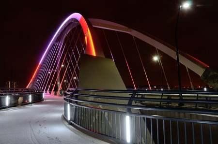 lowry: Lowry Avenue Bridge in Minneapolis, Minnesota at Night
