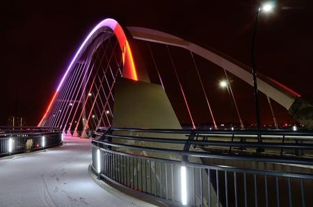 lowry: Lowry Avenue Bridge in Minneapolis, Minnesota at Night