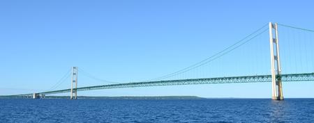 mackinac: Panoramic View of Michigans Mackinac Bridge