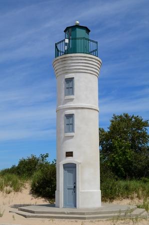lake michigan lighthouse: Robert H. Manning Memorial Faro en Empire, Michigan