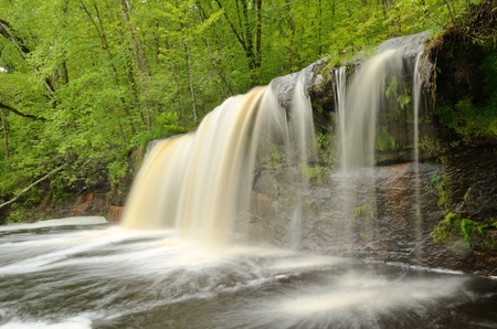 state park: Wolf Creek Falls, Banning State Park Minnesota Stock Photo