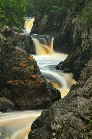 cascade: Waterfalls on the Cascade River,  Cascade River State Park Minnesota