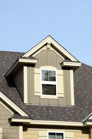 building exteriors: Gable Dormers and Roof of Residential House