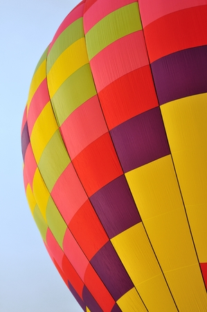 Colorful Patterns of a Hot Air Balloon