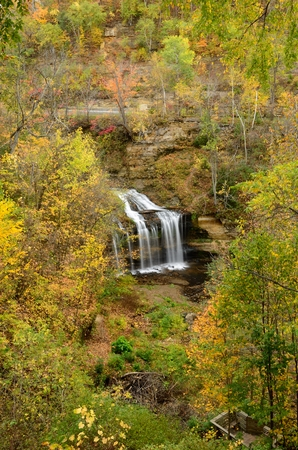 Autumn at Cascade Falls in Osceola, Wisconsin