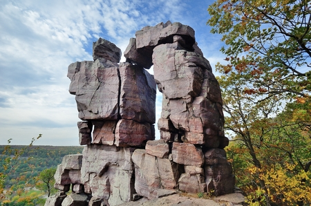 Devils Doorway at Devils Lake State Park near Baraboo, Wisconsin