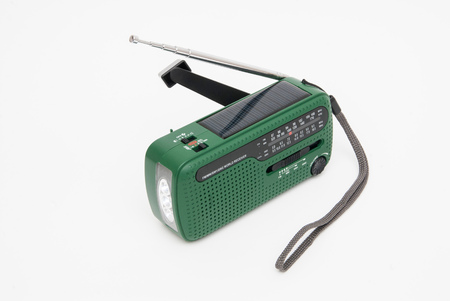 a crank radio with solar power
