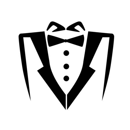 Mens wedding suit isolated icon design, vector illustration graphic