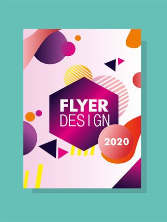 Geometric and Colorful Design Flayer