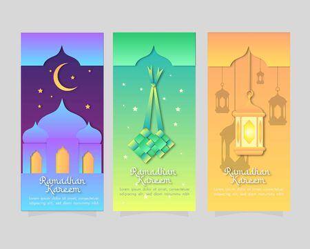 Ramadan Kareem Background Bundle Vector