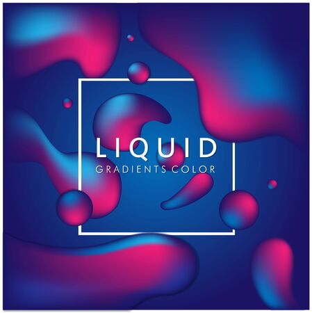 Blue Liquid Gradient Color Background Vector