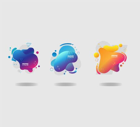 Gradient Liquid Color Background Bundle