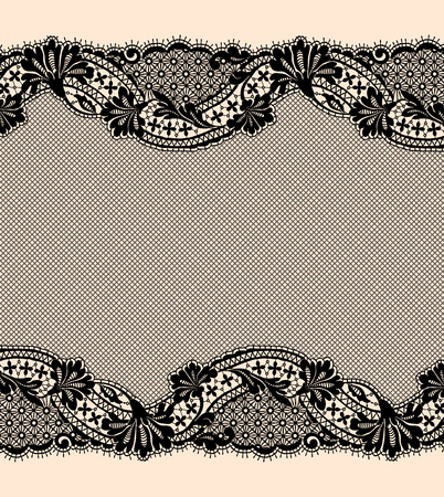 Black lace ribbon