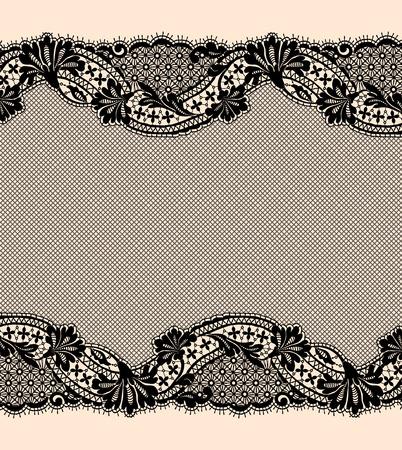 lace pattern: Black lace ribbon