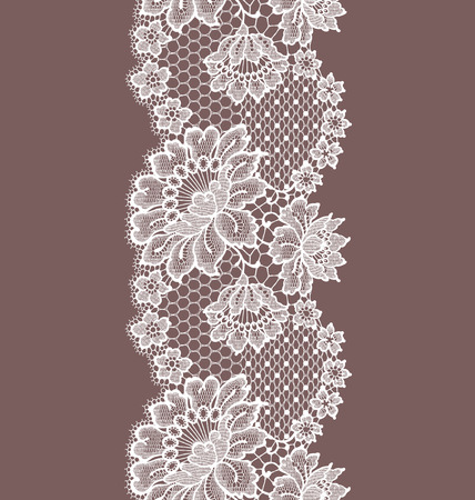 grid pattern: Seamless Pattern white lace ribbon