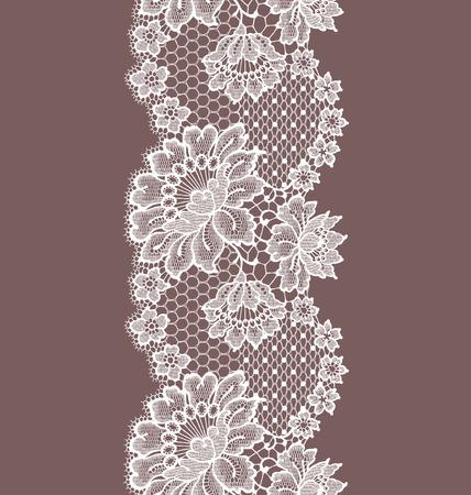 Seamless Pattern white lace ribbon