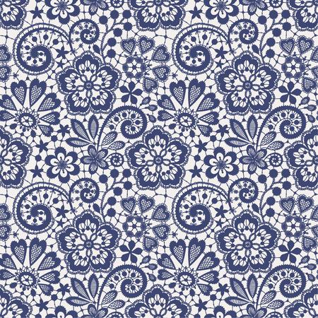 folk tales: Lace Seamless Pattern. Blue backgrounds.